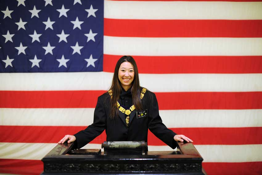 Van Nuys-Reseda Elks Lodge Exalted Ruler Tiffany Lace, 24-years-old, at the Van Nuys lodge. (Hans Gutknecht/Staff Photographer)